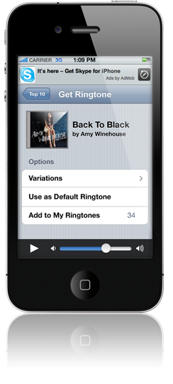 iPhone Ringtones Application